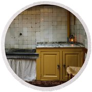 Round Beach Towel featuring the photograph 19th Century Kitchen In Amsterdam by RicardMN Photography