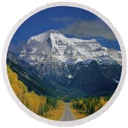 1m2441-h Mt. Robson And Yellowhead Highway H Round Beach Towel