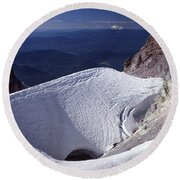 Round Beach Towel featuring the photograph 1m5140 Crater On Mt. Hood Or by Ed Cooper Photography