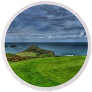 1st Green Cape Cornwall Golf Club Round Beach Towel