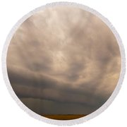 3rd Storm Chase Of 2015 Round Beach Towel
