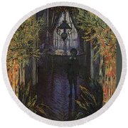 A Corner Of The Apartment Round Beach Towel by Claude Monet