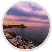 A Lot To See And Do Round Beach Towel