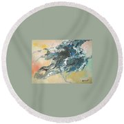 Round Beach Towel featuring the painting Abstract #05 by Raymond Doward