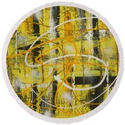 Abstract_untitled Round Beach Towel