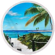 Access To The Beach Round Beach Towel