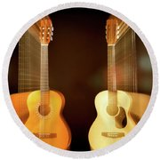 Acoustic Overtone Round Beach Towel by Leland D Howard