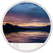 Round Beach Towel featuring the photograph Across The Clouds I See My Shadow Fly by John Poon