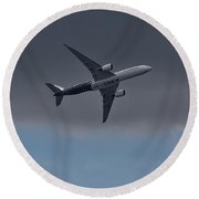 Airbus A350 Round Beach Towel by Shirley Mitchell