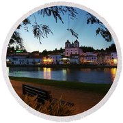 Round Beach Towel featuring the photograph Alcacer Do Sal by Carlos Caetano