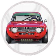Alfa Romeo Gtv Illustration Round Beach Towel