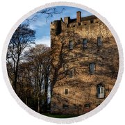 Round Beach Towel featuring the photograph Alloa Tower by Jeremy Lavender Photography