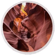 Antelope Canyon Round Beach Towel by JR Photography