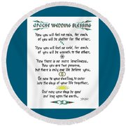 Apache Wedding Blessing Round Beach Towel