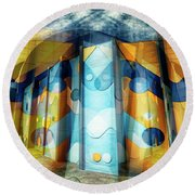 Round Beach Towel featuring the photograph Architectural Abstract by Wayne Sherriff