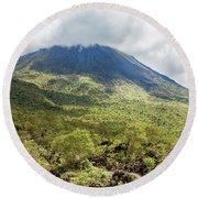Arenal Volcano, Costa Rica Round Beach Towel