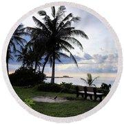 Asan Beach Guam Round Beach Towel