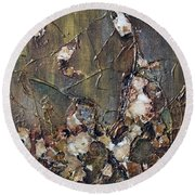 Round Beach Towel featuring the painting Autumn Leaves by Joanne Smoley