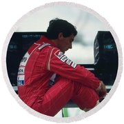 Ayrton Senna. 1992 French Grand Prix Round Beach Towel