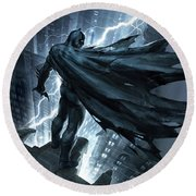 Batman The Dark Knight Returns 2012 Round Beach Towel