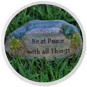 Round Beach Towel featuring the photograph 2- Be At Peace by Joseph Keane