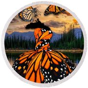 Round Beach Towel featuring the mixed media Believe by Marvin Blaine