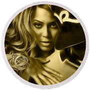 Beyonce Jay Z Collection Round Beach Towel by Marvin Blaine