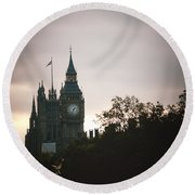 Big Ben Round Beach Towel by Rachel Mirror