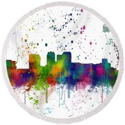 Birmingham Alabama Skyline Round Beach Towel