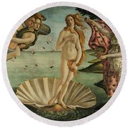 The Birth Of Venus, Detail Round Beach Towel