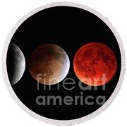 Blood Moon Eclipse Round Beach Towel