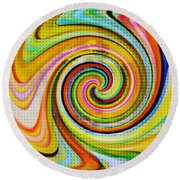 Spiraling Glass Art Round Beach Towel