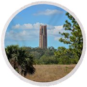 Bok Tower Round Beach Towel
