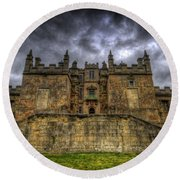 Bolsover Castle Round Beach Towel by Yhun Suarez