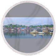 Booth Bay Round Beach Towel