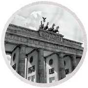 Brandenburg Gate - Berlin Round Beach Towel