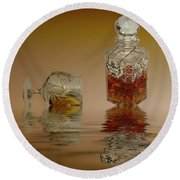 Brandy Decanter Glass Round Beach Towel