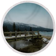 Round Beach Towel featuring the photograph Bridge by Bill Howard