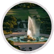 Buckingham Fountain Chicago Round Beach Towel
