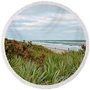 By The Sea Round Beach Towel by Carol Bradley