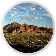 Camelback Mountain, Phoenix Arizona Round Beach Towel