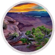 Canyonlands Sunrise Round Beach Towel