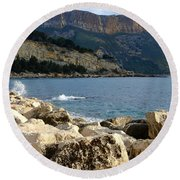 Cap Canaille Cassis Round Beach Towel