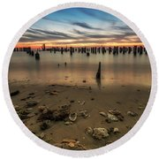 Round Beach Towel featuring the photograph Cape Charles by Kevin Blackburn