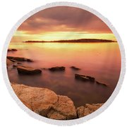 Cape Porpoise Round Beach Towel