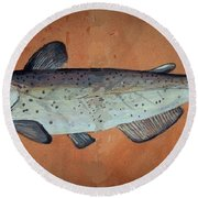 Catfish Round Beach Towel