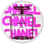 Chanel Chanel Chanel  Round Beach Towel