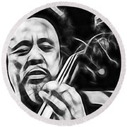 Charles Mingus Collection Round Beach Towel