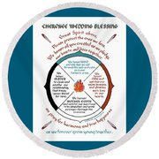 Cherokee Wedding Blessing Round Beach Towel