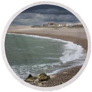 Chesil Cove  Round Beach Towel